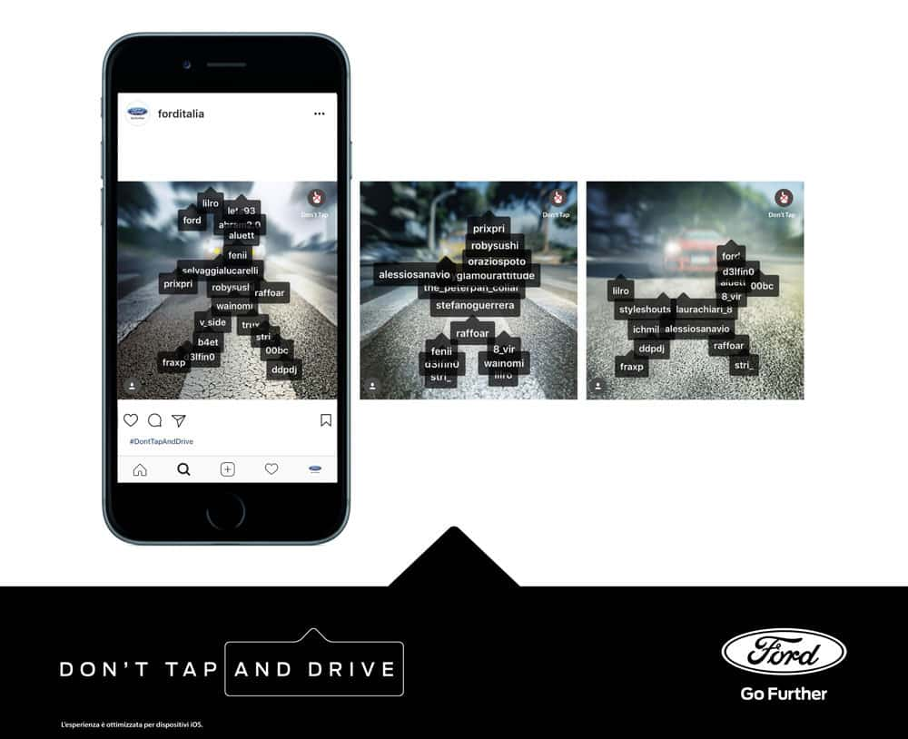 Ford Italia, Don't Tap And Drive