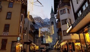 Cortina, Regina delle Dolomiti. Montagna in inverno.